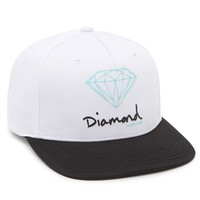 Diamond Supply Co OG Script Snapback Hat - Mens Backpack - White - One