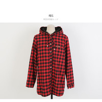 Buy CLICK Hooded Pocket-Front Checked Jacket | YesStyle