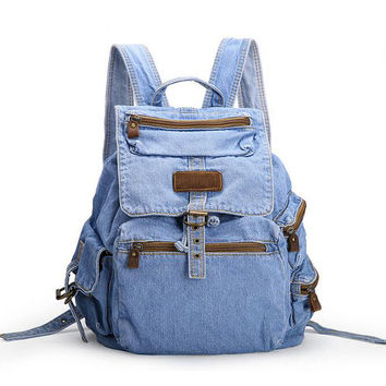 Hot Sale mochila feminina Women's Backpack denim backpack teenage Girls vintage Travel bag shoulder bags mochila feminina