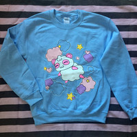 Kawaii Harajuku Fairy Kei Pop Kei Spank Pastel Goth Cartoon Anime Cotton Candy Panda Pandy sweatshirt