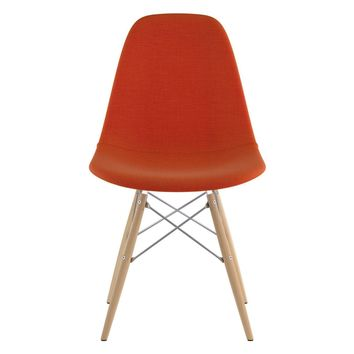 Mid Century Dowel Side Chair Lava Red