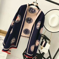 Chanel Trending Casual Women Men Wool Print Scarf  G-TMWJ-XDH