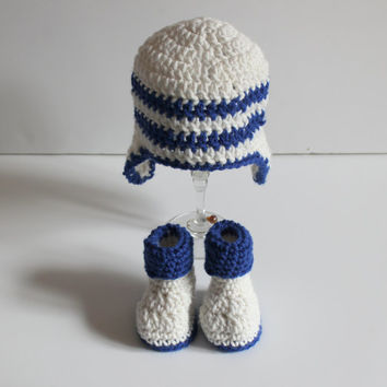 Choose your Color Baby Hat and Booties Set, Crochet Baby Hat, Crochet Booties