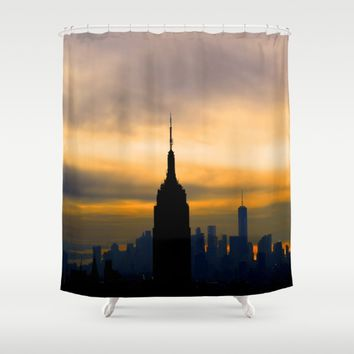 New York skyline Shower Curtain by Haroulita!! | Society6