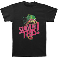 Survive This! Men's  Dinosaur T-shirt Black Rockabilia