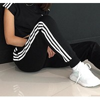 adidas 3-Stripes Track Pants - Black