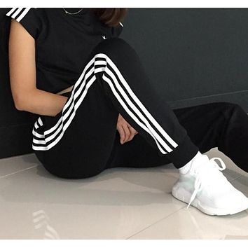 Fashion Online Adidas 3-stripes Track Pants - Black