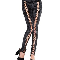 Ambrosia Crushed Velvet Corset Leggings