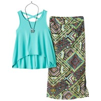 Knitworks Tank & Maxi Skirt Set - Girls
