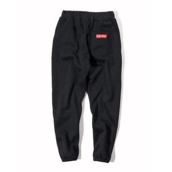 LMFON Supreme Drawstring Embroidery Cotton Pants Trousers Sweatpants