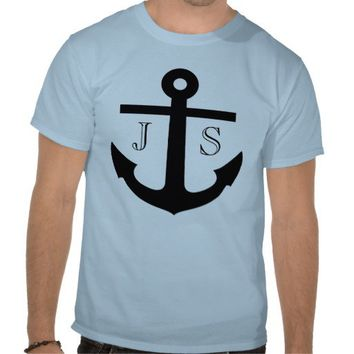Monogrammed Anchor T-Shirt from Zazzle.com
