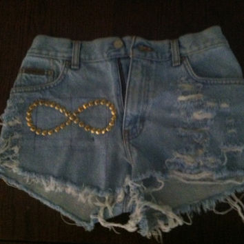 Infinity Calvin Klein Vintage Jean Shorts by victoriapearson2
