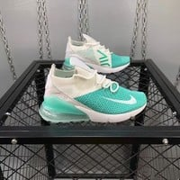 nike air max 270 flyknit women casual fashion multicolor half air cushion running shoes sneakers