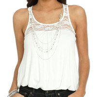 Necklace Bubble Hem Tank | Shop Junior Clothing at Wet Seal