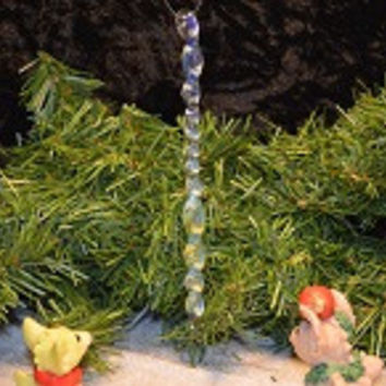 Silver Fumed Glass Icicle Ornament