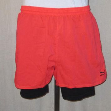 vintage super rare 80s neon puma tennis nike challenge court style lined athletic spor  number 1