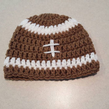 Newborn Crochet Football Hat