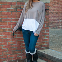 Layered Up Top, Mocha/Ivory