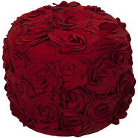 Rose Red Pouf
