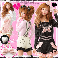 Rakuten: [heart pocket & りぼんが Lovely ♪ Princess tweed salopette YX-11-I-02|] P]It has been had ◆- Shopping Japanese products from Japan