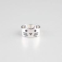 Full Tilt Kitty Ring Silver  In Sizes