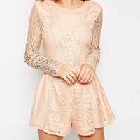 ASOS Romper in Pretty Patched Lace
