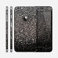 The Black Unfocused Sparkle Skin for the Apple iPhone 6 Plus