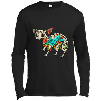 Chihuahua Halloween Sugar Skull Day Of The Dead Long Sleeve Moisture Absorbing Shirt