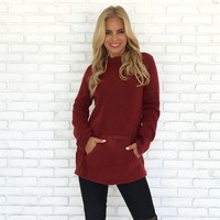 Sweet Melody Knit Sweater In Holiday Red