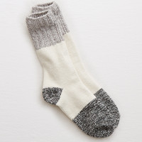 Aerie Colorblock Crew Socks, Heather Frost
