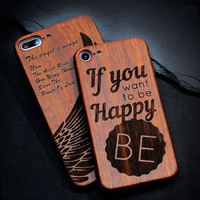 Thin Luxury High Quality Bamboo Wood Embossed Shockproof iPhone Case - Free Shipping