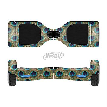 The Multiple Peacock Feather Pattern Full-Body Skin Set for the Smart Drifting SuperCharged iiRov HoverBoard