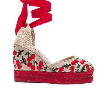 Castaner Embroidered Canvas Carina Espadrilles in Multicolor | FWRD
