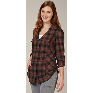 Royal Robbins Crimped Flannel Tunic Top - Women's