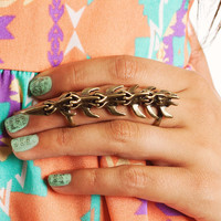 vertebrae-shield-ring GOLD SILVER - GoJane.com