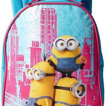 "Despicable Me Minions 10"" Canvas Toddler Blue School Backpack"