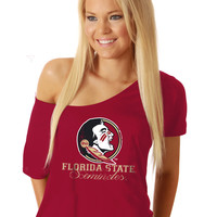 Florida State Seminoles Off the Shoulder T - Shirt