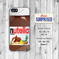 Nutella Bottle, Choco Toast, iPhone 5 case, iPhone 5C Case, iPhone 5S case, Phone cases, iPhone 4 Case, iPhone 4S Case, iPhone case, nb01