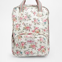 Coated Backpack in Rose Print
