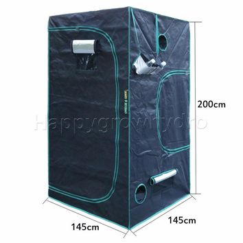 1680D Marshydro LED grow tent 145*145*200cm for Hydroponics,Grow Box,LED Grow System