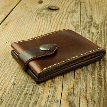 Steampunk Mens Wallet Brown Wallets for men Minimalist wallet Slim card holder wallet