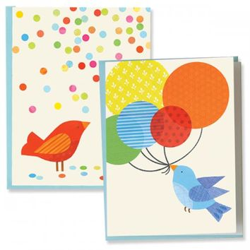 Petit Collage |  Recycled Boxed Note Cards Birds