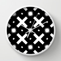 Black and white pattern Wall Clock by VanessaGF