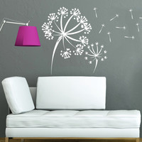 Wall Decals Vinyl Sticker Decal Murals Dandelion in the Wind Flower Nature Plants Grass Forest Home Decor Nursery Bedroom Murals SV6047