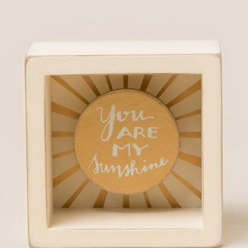 You are my sunshine mini shadow box sign