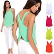 Womens Chiffon Vest Tank top for Summer Very Light