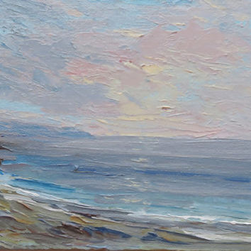 Sea painting Original oil miniature on mini easel Small oil painting Seascape painting Sea art Nautical art