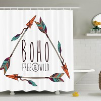 Boho Wild and Free Shower Curtain