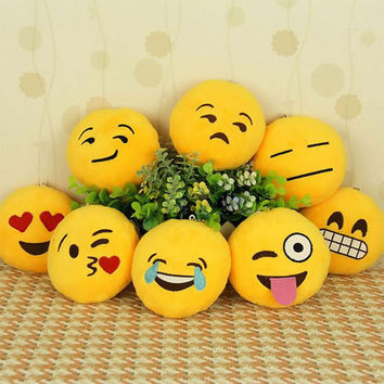 6 Styles Soft Emoji Pillow Smiley or Poo Shape Cushion Pillows Funny Stuffed Bolster Cushions