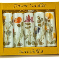 Natural Floral Candle Set